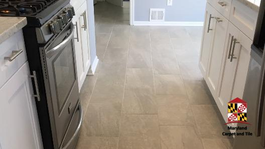 Small kitchen walkway remodel, cabinets, flooring and utilities