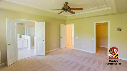 Carpeting installation in master bedroom